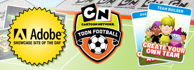 Cartoon network's toon football is today's adobe site of the day